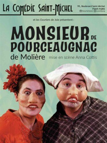 Affiche de M. de Pourceaugnac par les Ouvriers de Joie